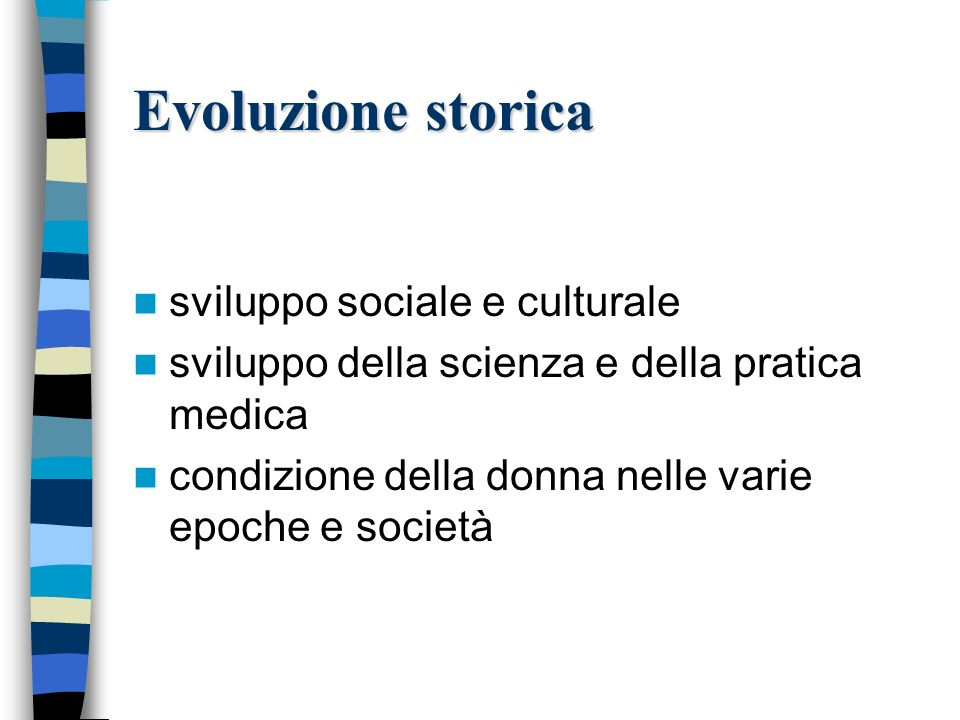 Evoluzione storica sviluppo sociale e culturale