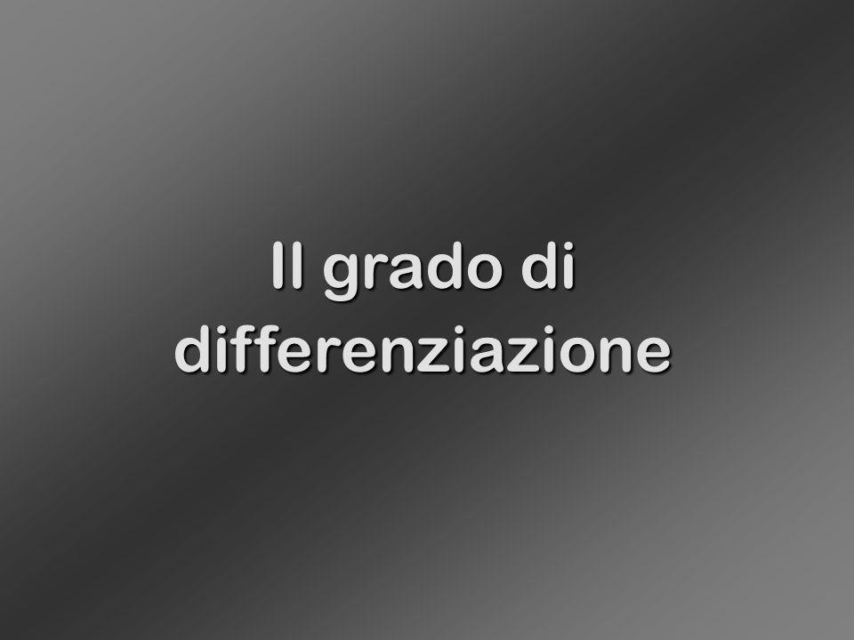 Il grado di differenziazione
