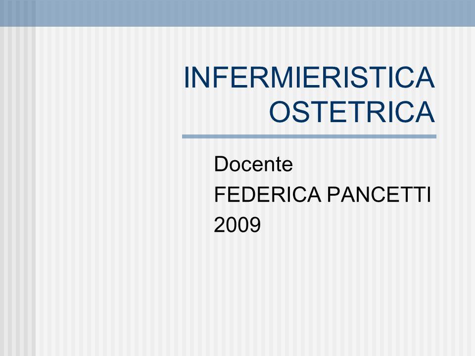 INFERMIERISTICA OSTETRICA