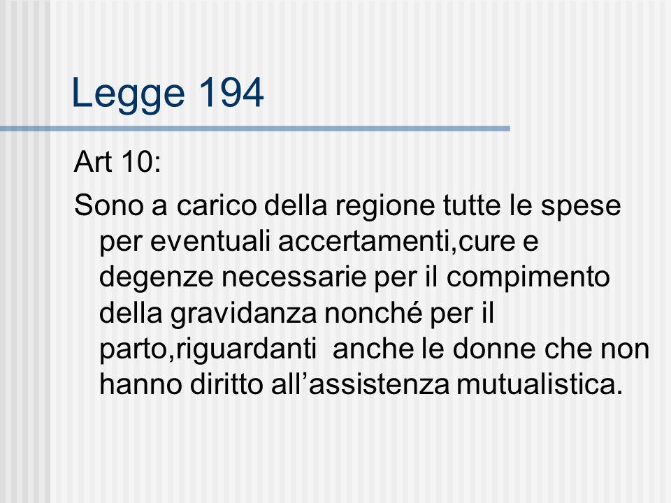 Legge 194 Art 10: