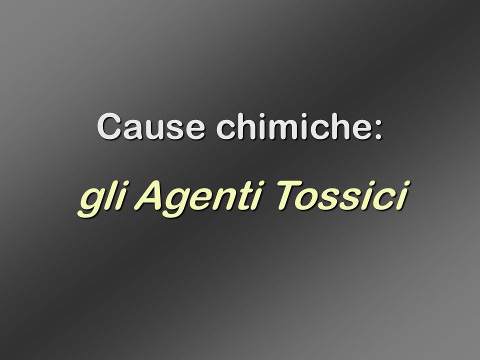 Cause chimiche: gli Agenti Tossici