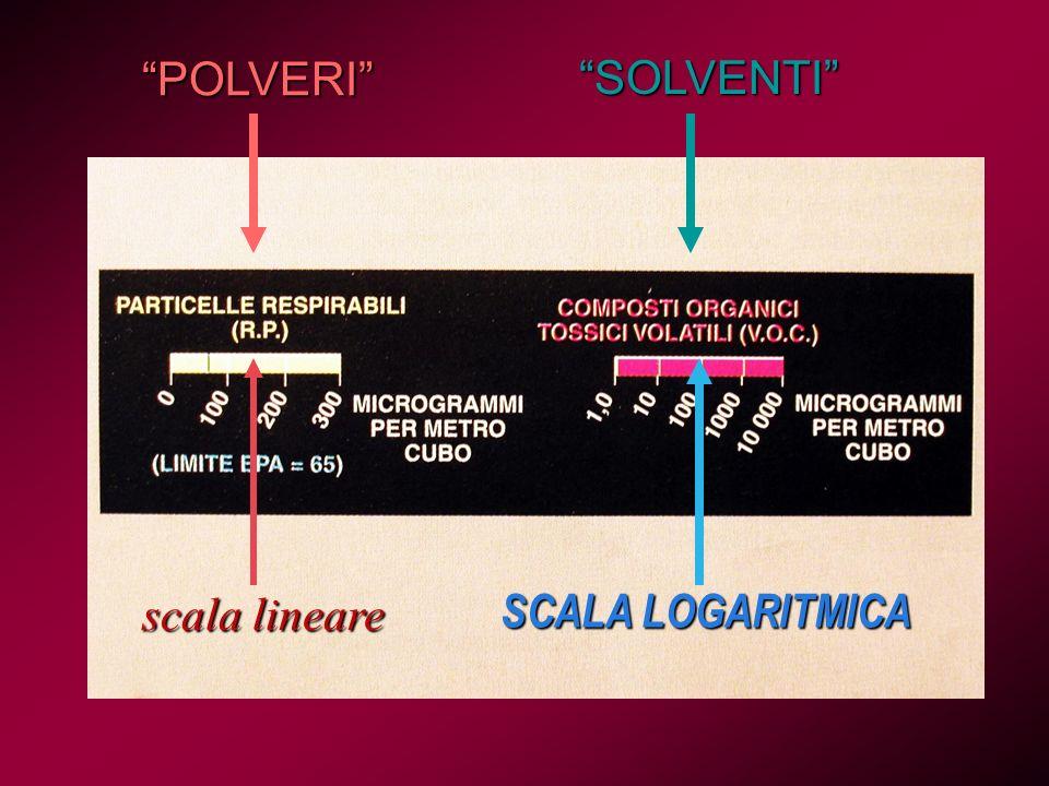 POLVERI SOLVENTI scala lineare SCALA LOGARITMICA