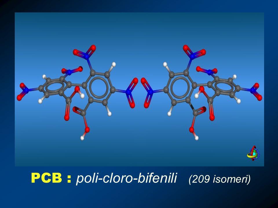PCB : poli-cloro-bifenili (209 isomeri)