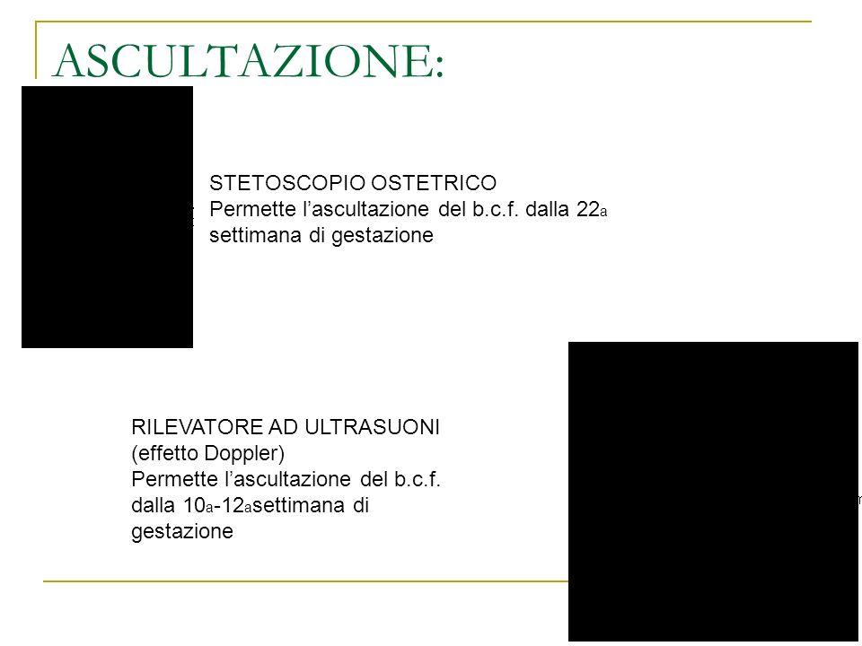 ASCULTAZIONE: STETOSCOPIO OSTETRICO