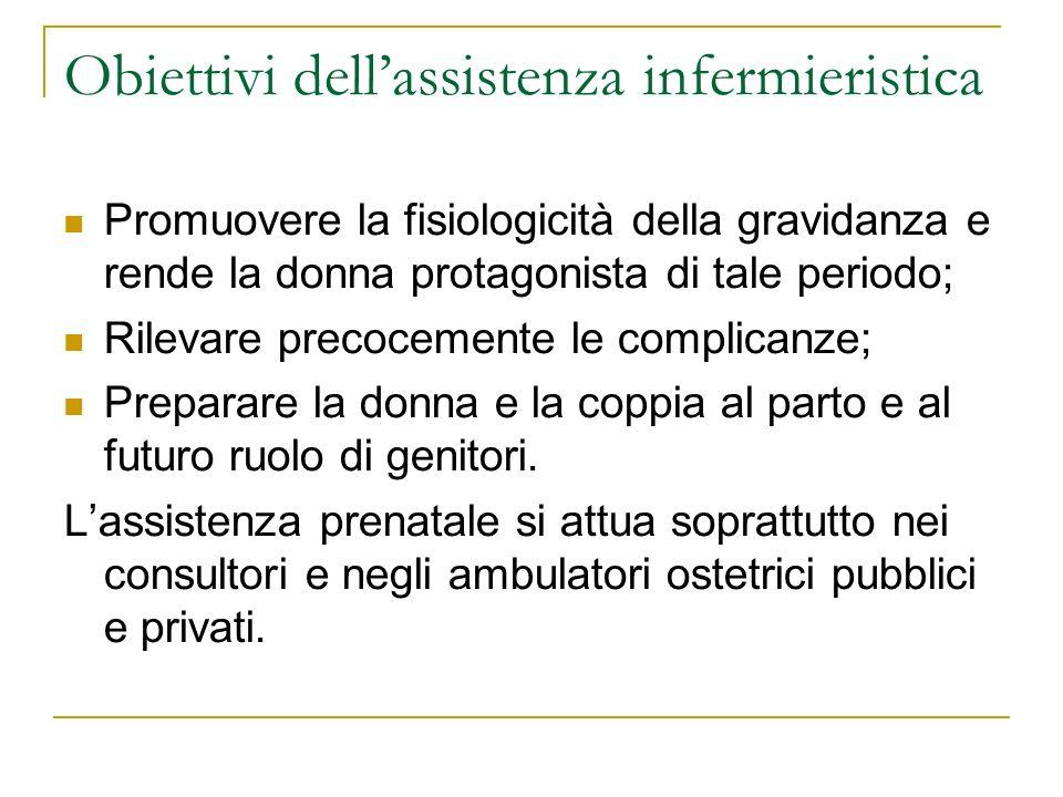 Obiettivi dell'assistenza infermieristica