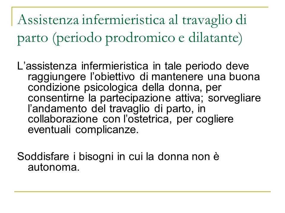 Assistenza infermieristica al travaglio di parto (periodo prodromico e dilatante)