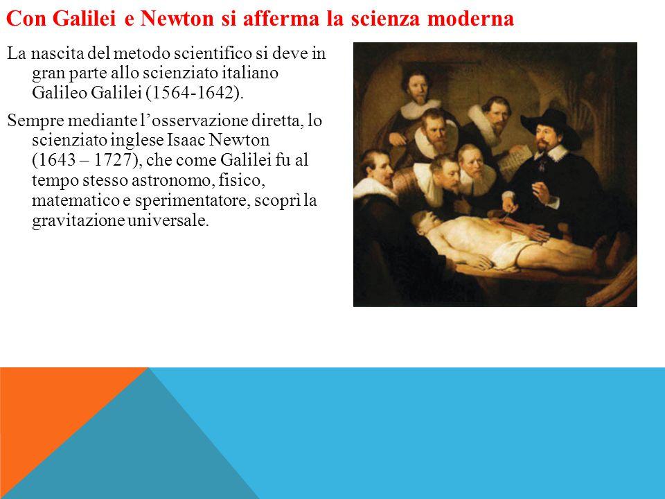Con Galilei e Newton si afferma la scienza moderna