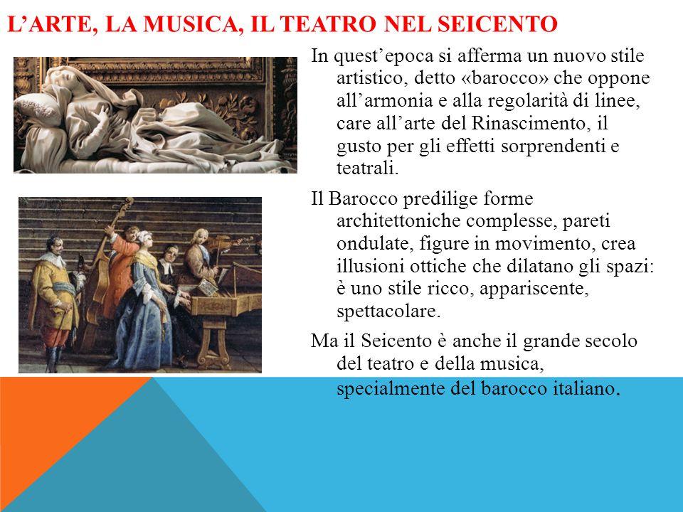 L'arte, la musica, il teatro nel Seicento