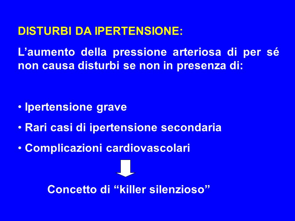 DISTURBI DA IPERTENSIONE: