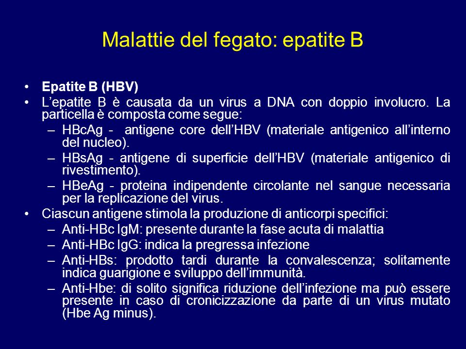 Malattie del fegato: epatite B