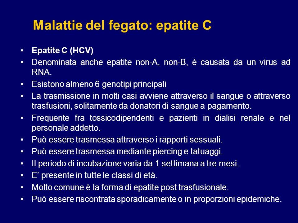 Malattie del fegato: epatite C
