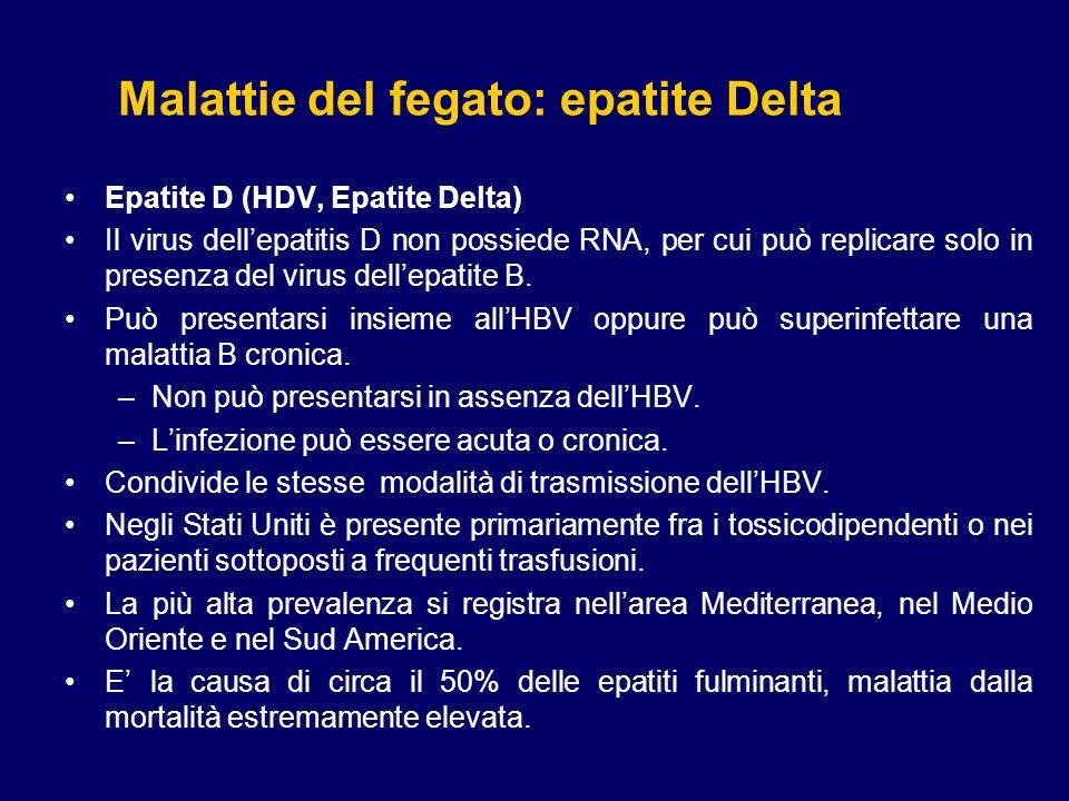 Malattie del fegato: epatite Delta