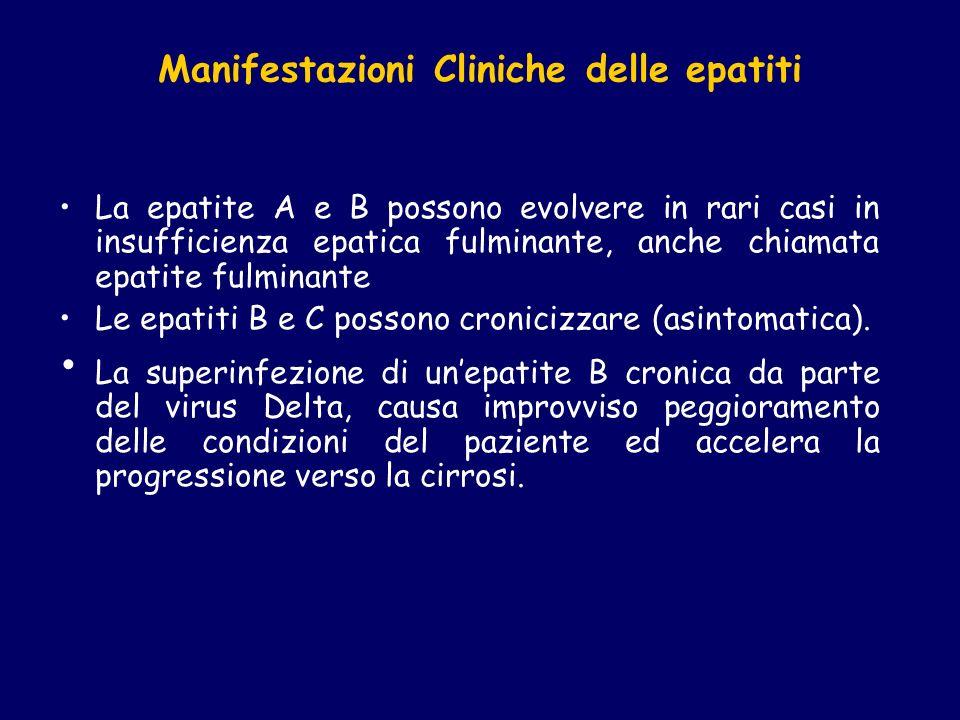 Manifestazioni Cliniche delle epatiti