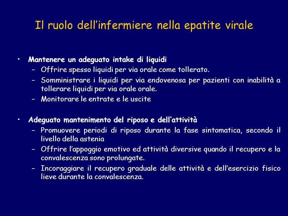 Il ruolo dell'infermiere nella epatite virale