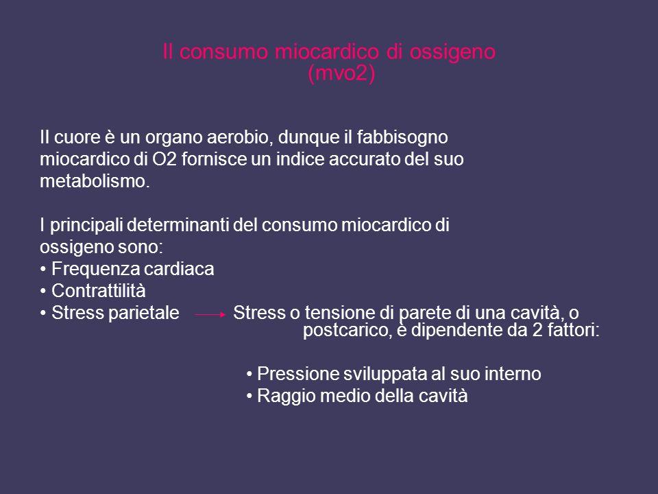 Il consumo miocardico di ossigeno (mvo2)