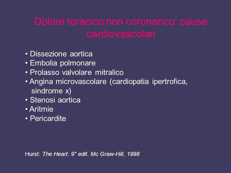 Dolore toracico non coronarico: cause cardiovascolari