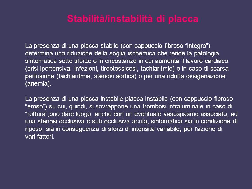 Stabilità/instabilità di placca