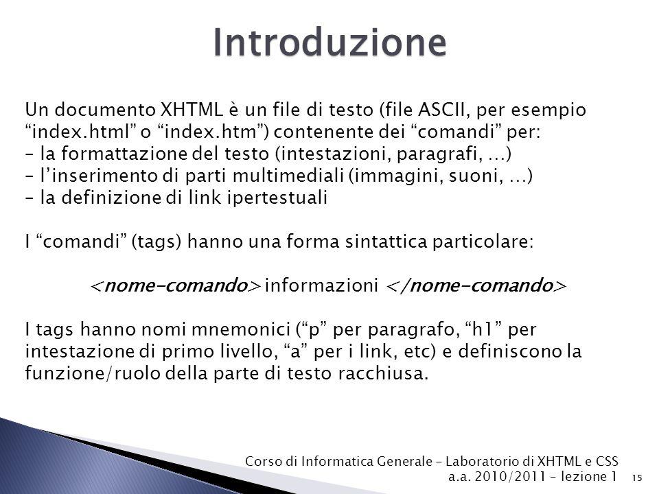 <nome-comando> informazioni </nome-comando>