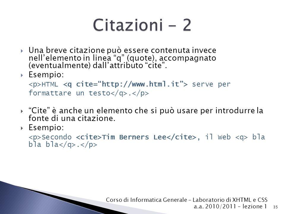 Citazioni - 2