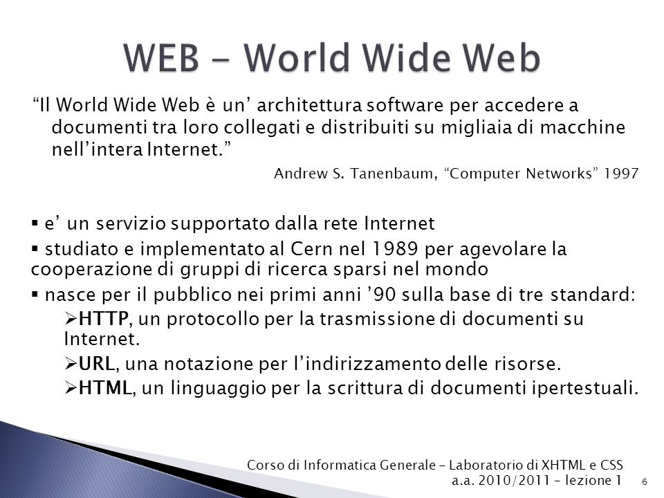 WEB - World Wide Web