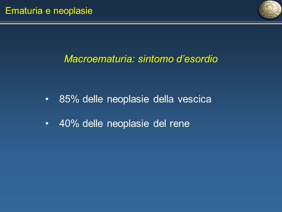 Macroematuria: sintomo d'esordio