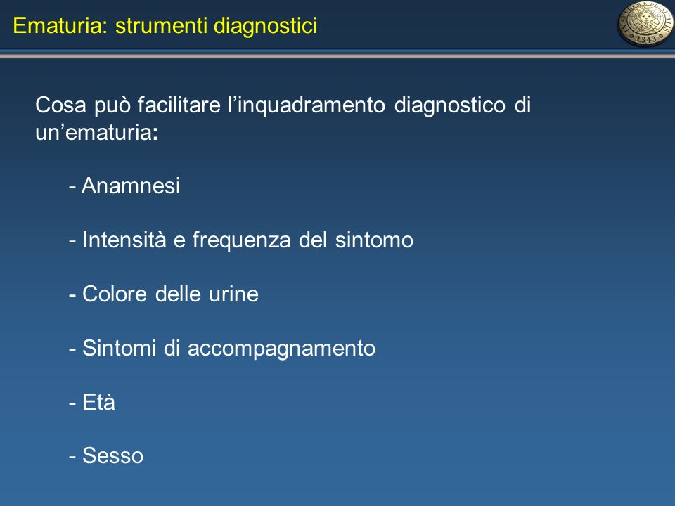 Ematuria: strumenti diagnostici