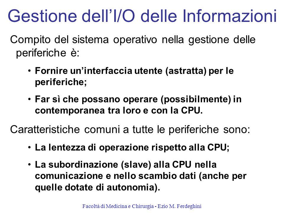 Gestione dell'I/O delle Informazioni