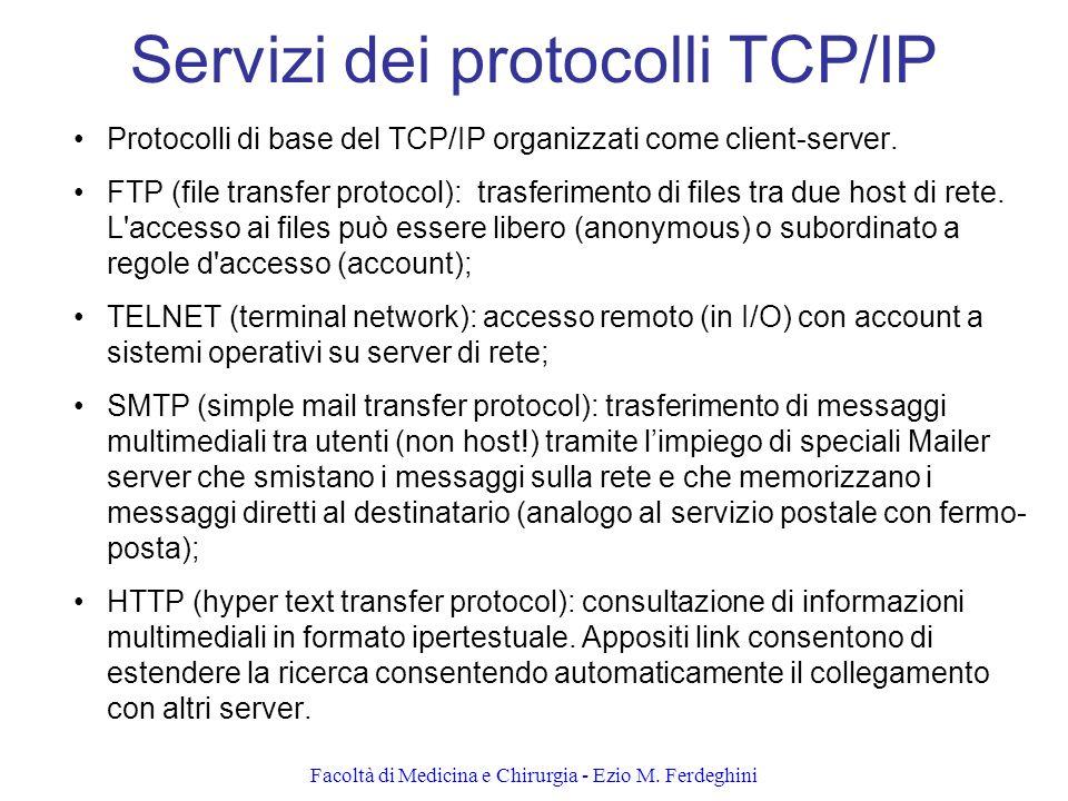 Servizi dei protocolli TCP/IP