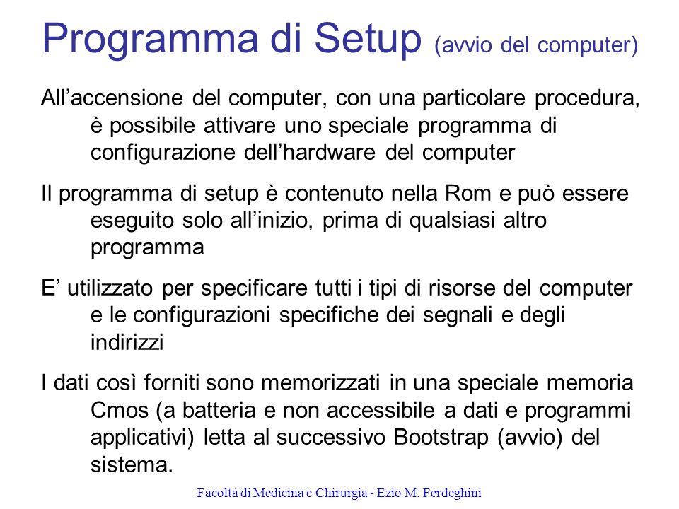 Programma di Setup (avvio del computer)