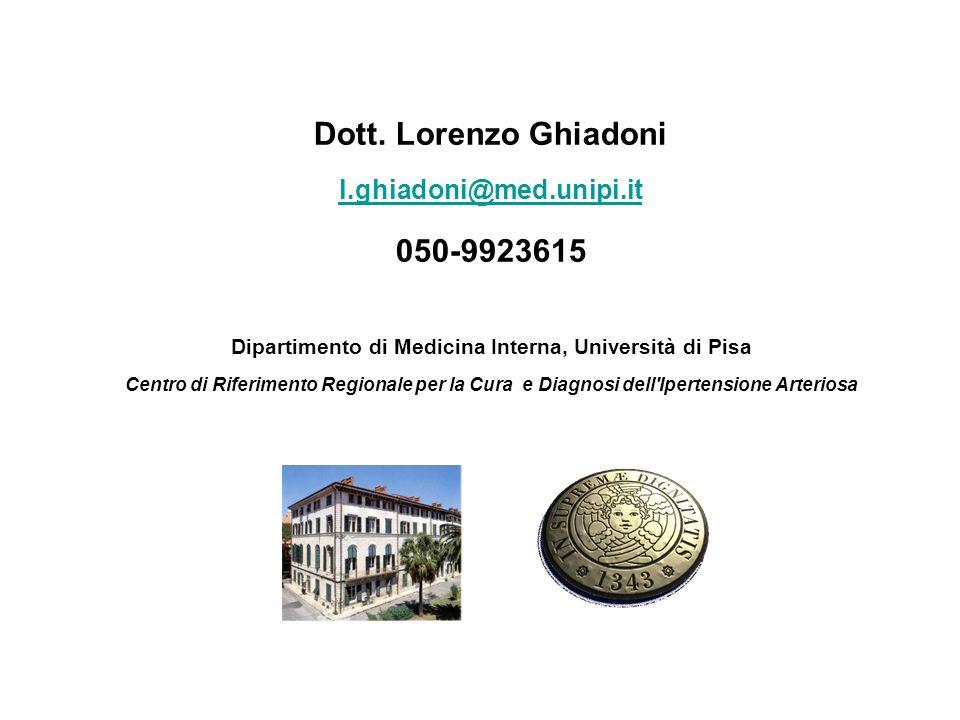 Dipartimento di Medicina Interna, Università di Pisa