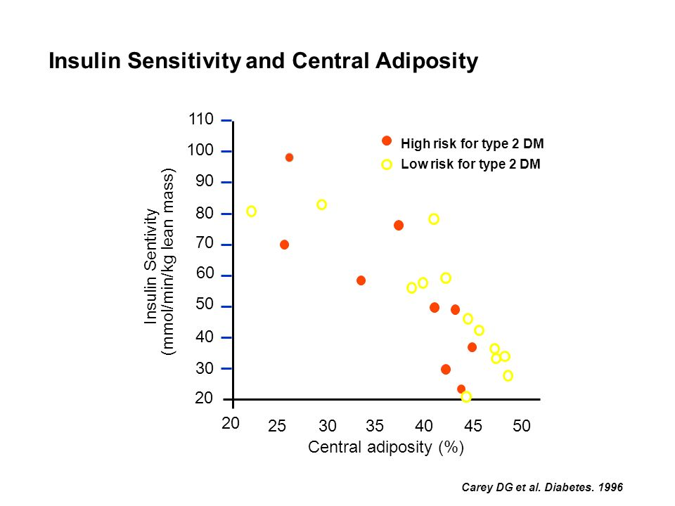 Insulin Sensitivity and Central Adiposity