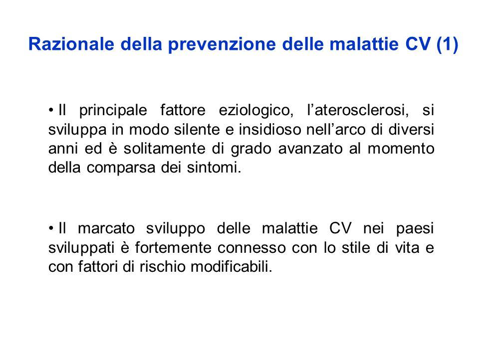 Razionale della prevenzione delle malattie CV (1)