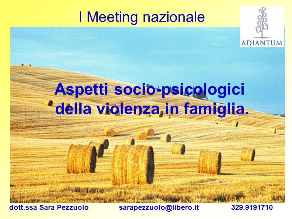 Aspetti socio-psicologici della violenza in famiglia.