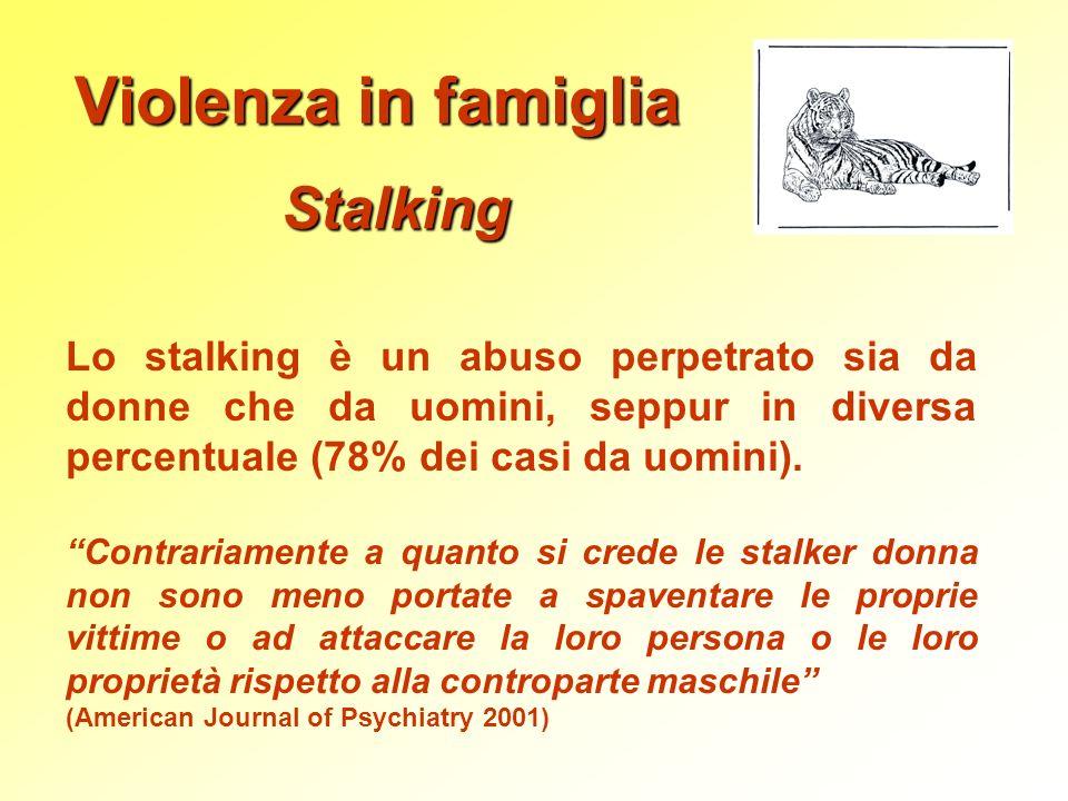 Violenza in famiglia Stalking