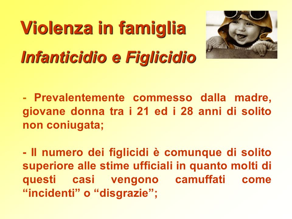 Infanticidio e Figlicidio