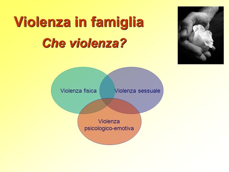 Violenza in famiglia Che violenza Violenza fisica Violenza sessuale