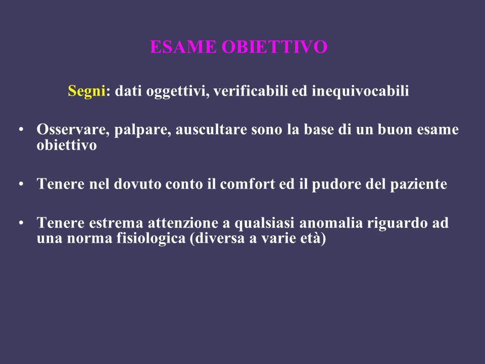 Segni: dati oggettivi, verificabili ed inequivocabili