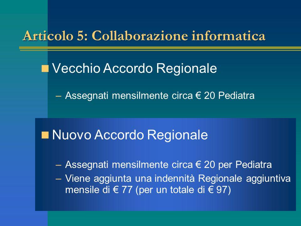 Articolo 5: Collaborazione informatica