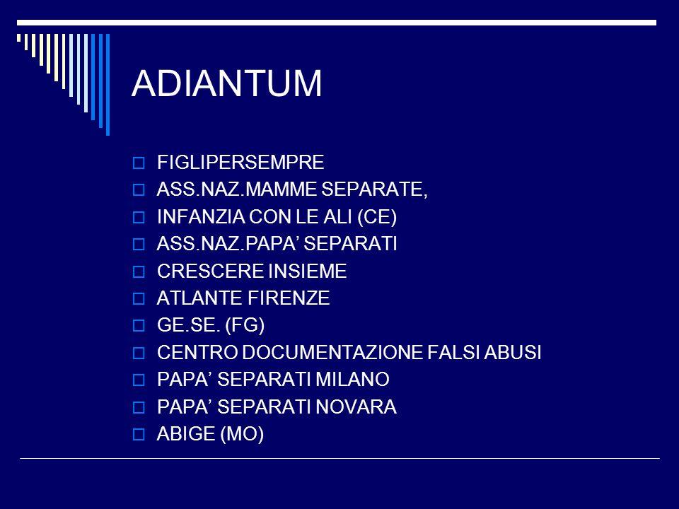 ADIANTUM FIGLIPERSEMPRE ASS.NAZ.MAMME SEPARATE,