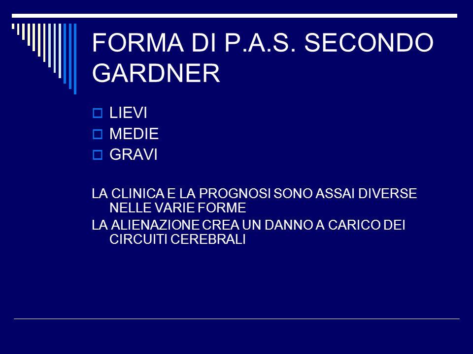 FORMA DI P.A.S. SECONDO GARDNER