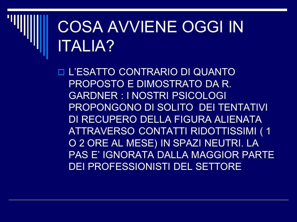 COSA AVVIENE OGGI IN ITALIA