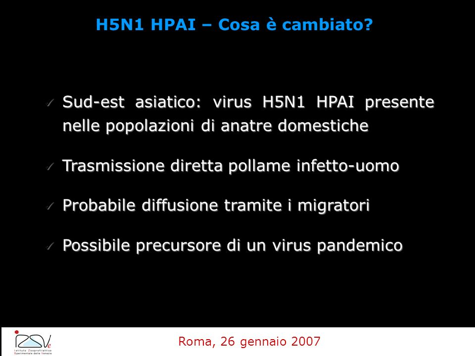 H5N1 HPAI – Cosa è cambiato