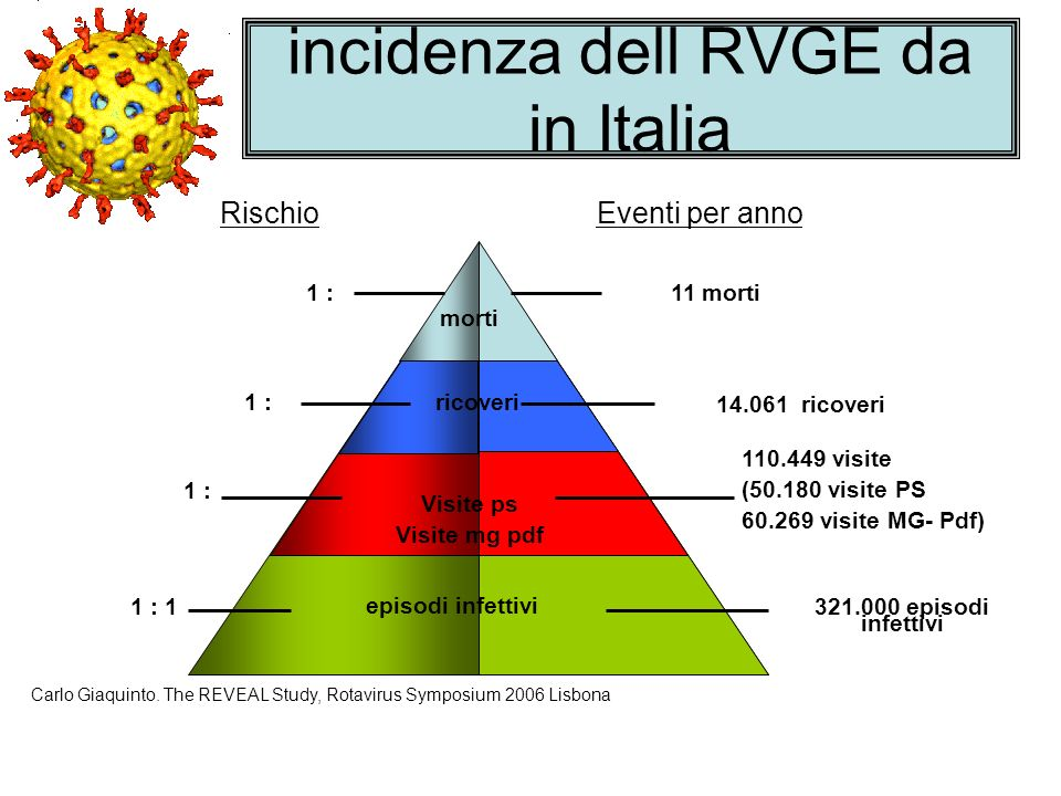 incidenza dell RVGE da in Italia