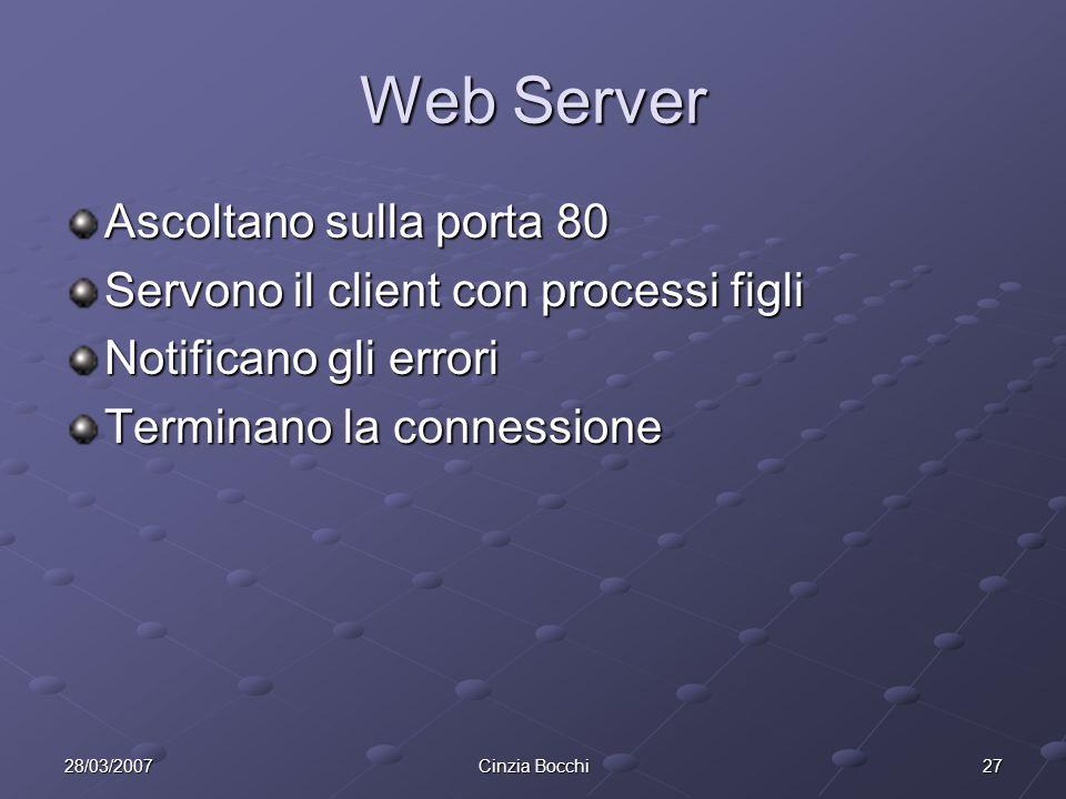 Web Server Ascoltano sulla porta 80