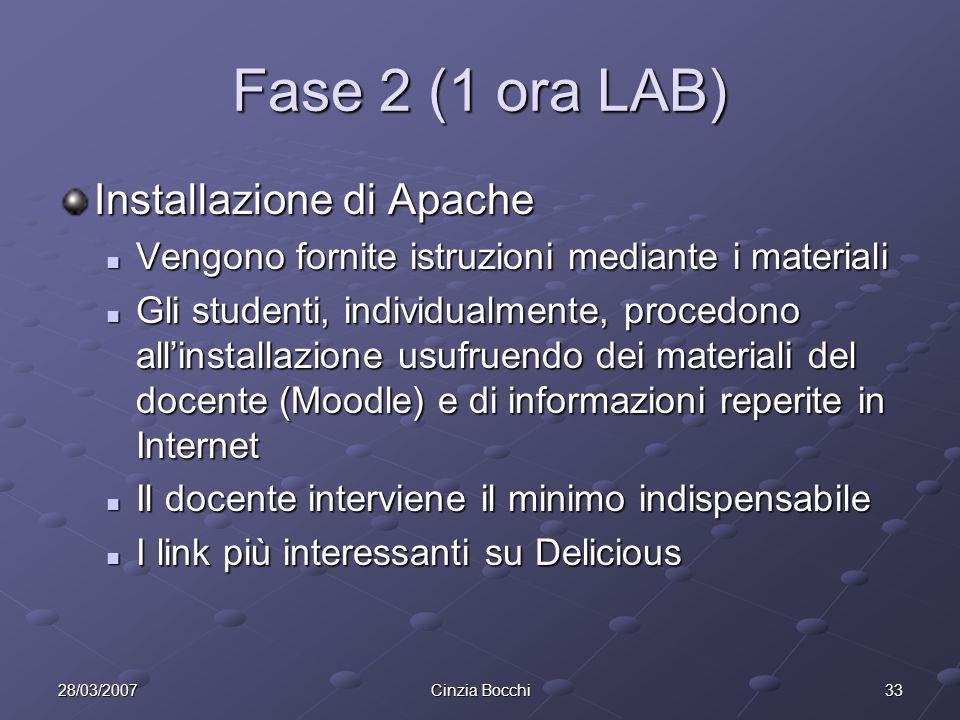 Fase 2 (1 ora LAB) Installazione di Apache