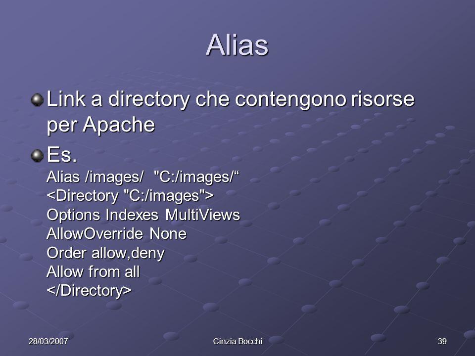 Alias Link a directory che contengono risorse per Apache