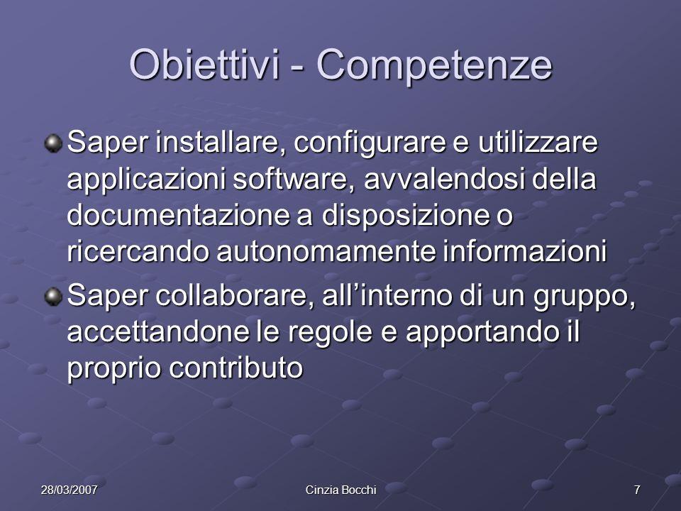 Obiettivi - Competenze