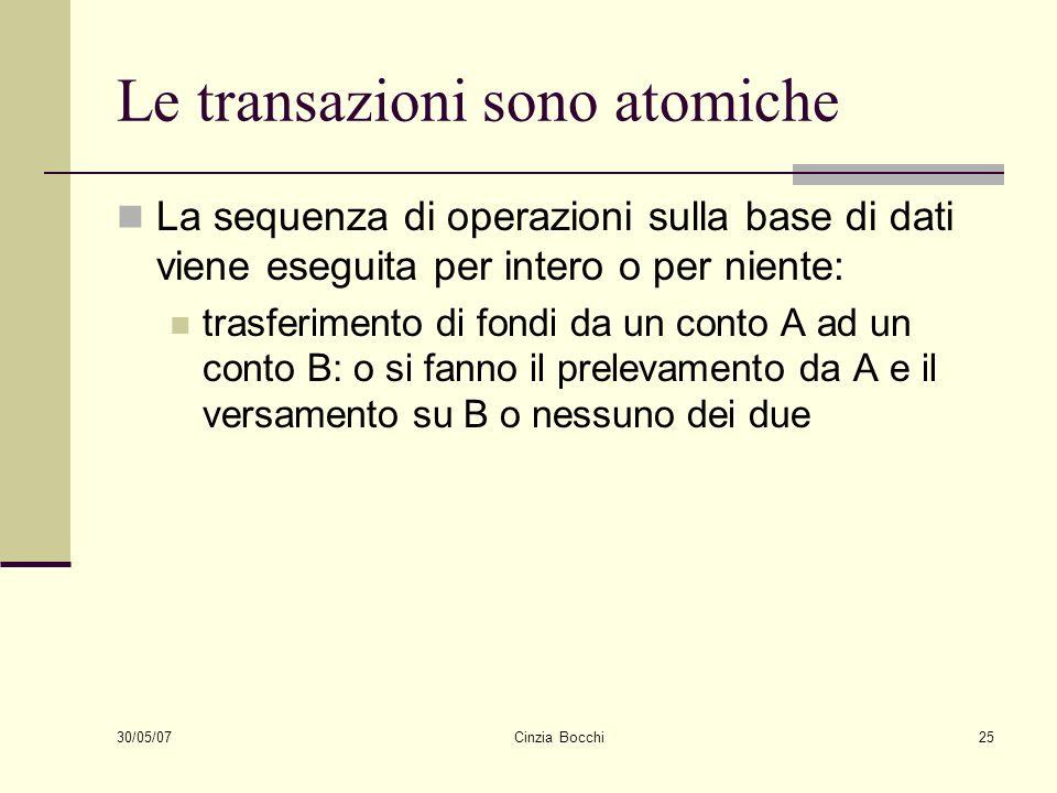 Le transazioni sono atomiche
