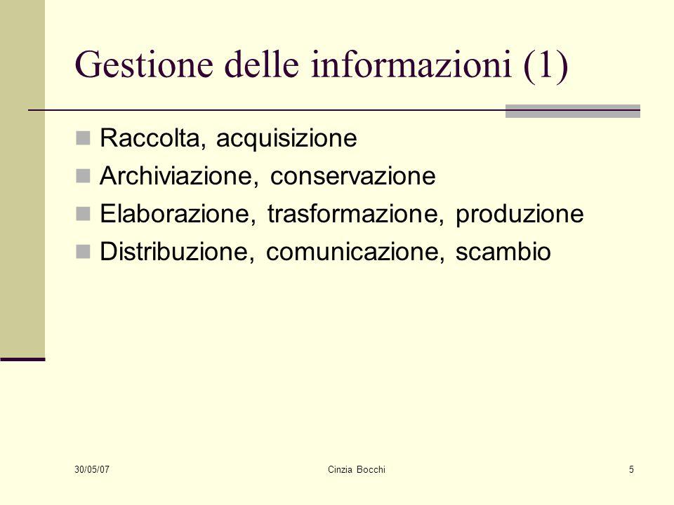 Gestione delle informazioni (1)
