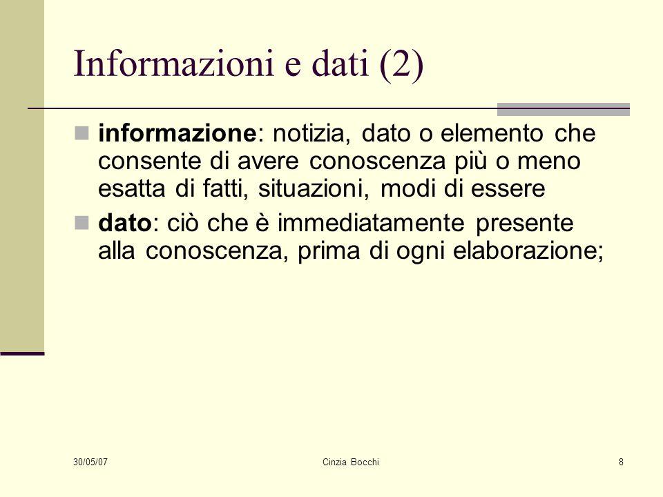 Informazioni e dati (2)
